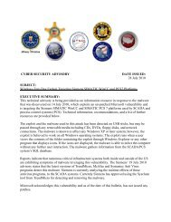 cyber security advisory - Multi-State Information Sharing and ...
