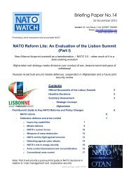 An Evaluation of the Lisbon Summit (Part I) - NATO Watch