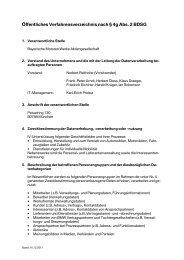 Öffentliches Verfahrensverzeichnis nach § 4g Abs. 2 BDSG - Mini