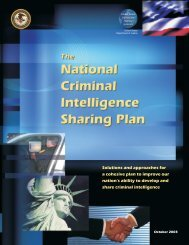National Criminal Intelligence Sharing Plan - OJP Information ...