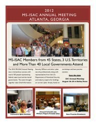 2012 Annual Meeting - Multi-State Information Sharing and Analysis ...