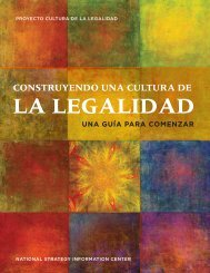 Construyendo unA CuLturA de LA LegALidAd - National Strategy ...