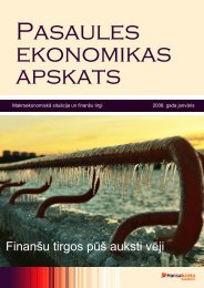 Finanšu tirgos pūš auksti vēji - Swedbank