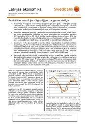 Latvijas ekonomika - Swedbank