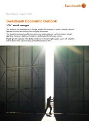 Swedbank Economic Outlook Swedbank Economic Outlook ...
