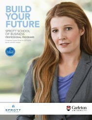 2013-14 Course Guide - Sprott School of Business - Carleton ...