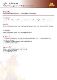 Ofen - Schürmann Vollkeramische Speicher - Kachelöfen und Kamine