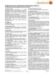 Kredītņēmēja dzīvības apdrošināšanas noteikumi (PDF) - Swedbank