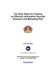Ten Easy Steps Guide. - Multi-State Information Sharing and ...