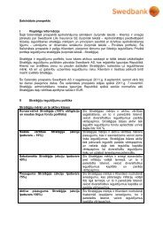 Saīsinātais prospekts I Vispārīga informācija Šajā ... - Swedbank