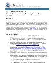 US-CERT Advisory-11-199-01