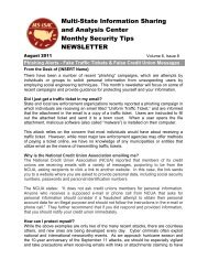 Monthly Security Tips - Multi-State Information Sharing and Analysis ...