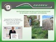 Realisierte Projekte 2009 - Geotex GmbH