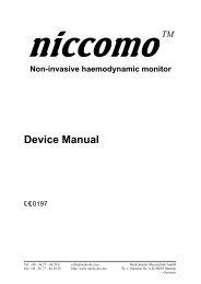 Device Manual -  MEDIS Medizinische Meßtechnik GmbH