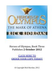 Heroes of Olympus, Book Three Publishes 2 ... - Percy Jackson