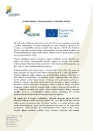 Vidzemes jaunieši – potenciālie uzņēmēji - uzsāks dalību projektā ...