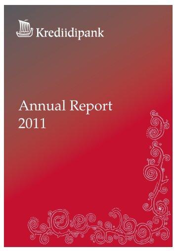 Annual Report 2011 - Krediidipank