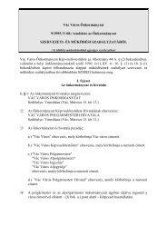 Vác Város Önkormányzat 9/1995./V.08./ rendelete az Önkormányzat ...