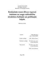 Krokainās rozes (Rosa rugosa) ietekme uz augu sabiedrību ...