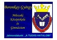 12. évfolyam őszi szülői értekezletére - Boronkay György Műszaki ...
