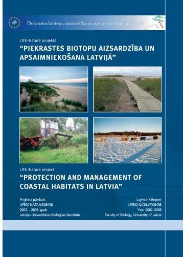 protection and management of coastal habitats in latvia - Piekrastes ...