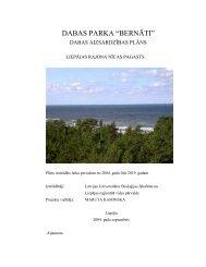 """DABAS PARKA —BERNĀTI"""" - Piekrastes biotopu aizsardzība un ..."""