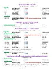 Výsledky krajských a ústředních kol soutěží ZUŠ 2011/2012