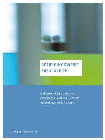 BEZIEHUNGSWEISE ERFOLGREICH. - szugger communications labs