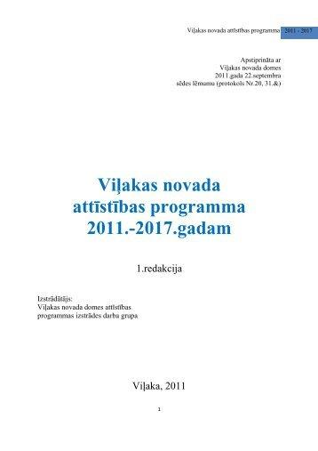 Viļakas novada attīstības programma 2011.-2017.gadam