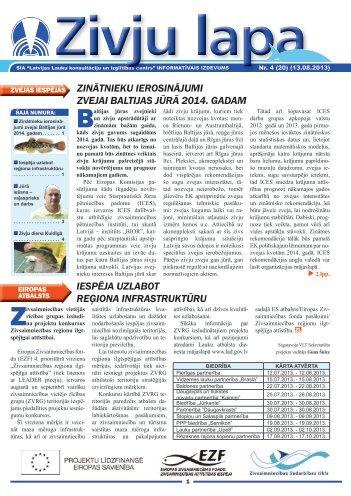 """""""Zivju Lapa"""" Nr.4(20) (13.08.2013.) - Latvijas Lauku konsultāciju un ..."""