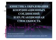 Лекция 8_Кинетика и реакционная способность