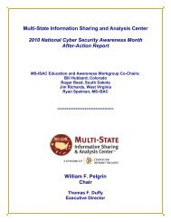 After-Action Report - Multi-State Information Sharing and Analysis ...