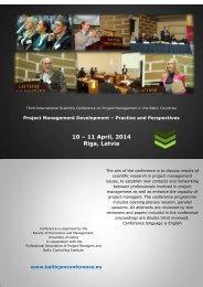 10 – 11 April, 2014 Riga, Latvia