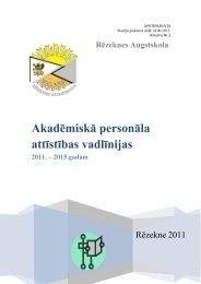 Akadēmiskā personāla attīstības stratēģija - Rēzeknes Augstskola