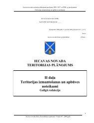 II daĜa Teritorijas izmantošanas un apbūves noteikumi