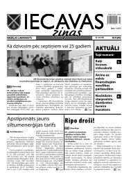 02.11.2012. (Nr. 43) - Iecavas novads