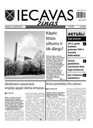 11.01.2013. (Nr. 2) - Iecavas novads
