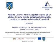 """Pētījuma """"Iecavas novada vajadzību izpēte ES un pārējās ārvalstu ..."""