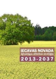 llgtspējīgas attīstības stratēģija - Iecavas novads