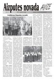 Lieldienas Aizputes novadā - Aizputes Novads