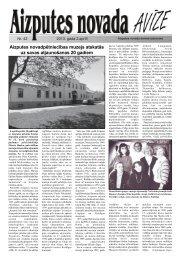 Aizputes novada 2013.gada avīze Nr. 42 (3.87 MB) - Aizputes Novads