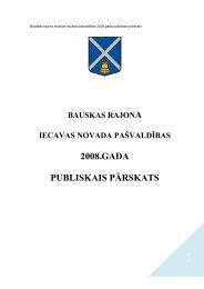 2008.GADA PUBLISKAIS PĀRSKATS - Iecavas novads