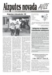 Aizputes vidusskolai - 90 - Aizputes Novads