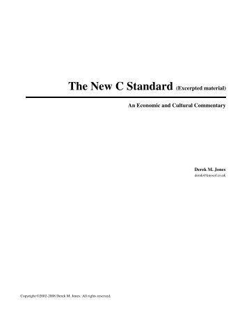 Commentary - Table of Contents - Coding Guidelines