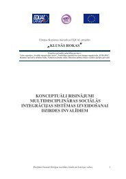 konceptuāli risinājumi multidisciplināras sociālās integrācijas ...