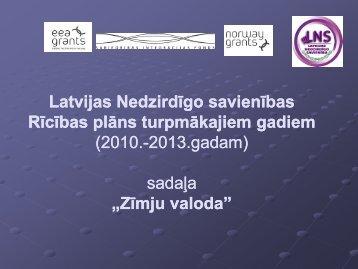 Zīmju valoda - Latvijas Nedzirdīgo savienība