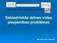 Sabiedriskās dzīves vides pieejamības problēmām - Latvijas ...