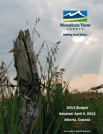 2012 Full Budget - Mountain View County