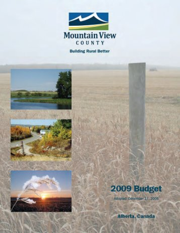 2009 Budget - Mountain View County