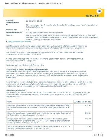 22 dec 2011 11:00 Til virksomheder, der fremstiller eller fra udlandet ...